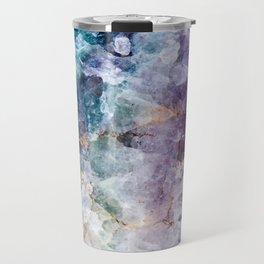 Quartz Stone - Blue and Purple Travel Mug