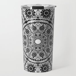 Black Lace mandala Travel Mug