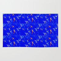 surfing Area & Throw Rugs featuring Surfing by Art-Motiva