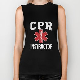 CPR Instructor Gift Biker Tank