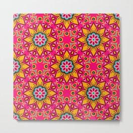 Bright colorful mandala pattern Metal Print