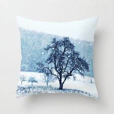 Old pear tree (cool edition) Throw Pillow