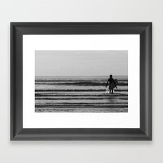 waiting for that one wave Framed Art Print