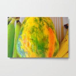 Fruit design with luscious papaya Metal Print
