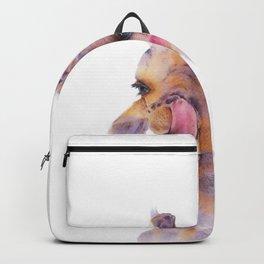 Giraff watercolor illustration Backpack