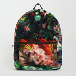 Pierre-Auguste Renoir - Gladioli in a Vase Backpack