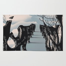 Yeouido South Korea travel poster Rug