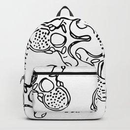 Mandala Vertebrae in black pattern Backpack