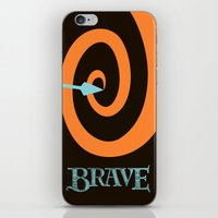be brave iPhone & iPod Skins featuring Brave by Citron Vert