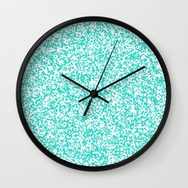 Tiny Spots - White and Turquoise Wall Clock