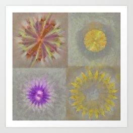Anticapitalistically Combination Flower  ID:16165-030023-59450 Art Print