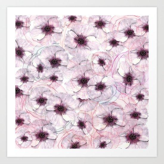 Flower carpet(53). Art Print