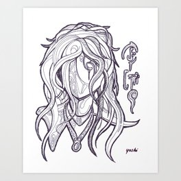Mystic Woman Art Print