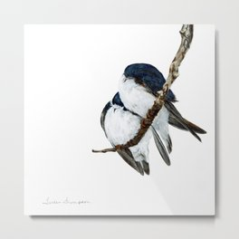 Togetherness - Tree Swallows by Teresa Thompson Metal Print