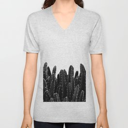 Black Cacti Dream #1 #minimal #decor #art #society6 Unisex V-Neck