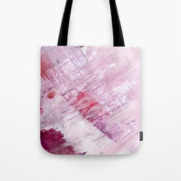 Magnetic [10]: a minimal abstract piece in gold, pink, red, white and purple Tote Bag