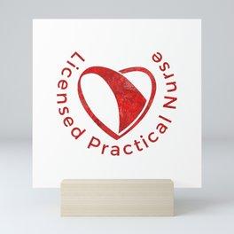 The heart of the Licenced Practical Nurse Mini Art Print