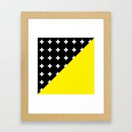 Memphis pattern 80 Framed Art Print
