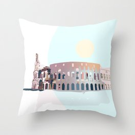 Rome Colosseum Throw Pillow