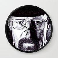 heisenberg Wall Clocks featuring Heisenberg  by DeMoose_Art