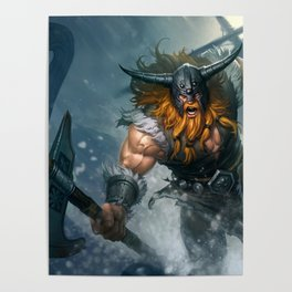 Classic Olaf League Of Legends Poster