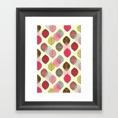 Linear leaves Framed Art Print