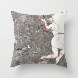 Wild We Are Beasts Throw Pillow