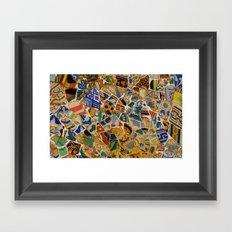 """""""Mosaik"""" -barcelona  Framed Art Print"""