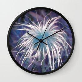 Flower (Western Pasque) Wall Clock