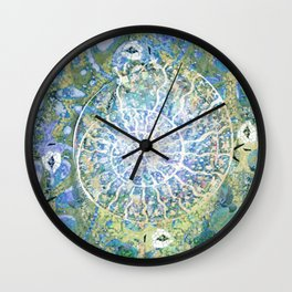 Spiral nature cycle- hand painted-holy geometry Wall Clock
