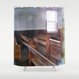 Through the Church Window Shower Curtain