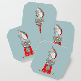Unicorn Gumball Poop Coaster