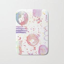 watercolor abstract Bath Mat