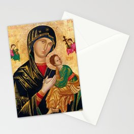 Our Lady of Perpetual Help Virgin Mary and Child Icon Christmas Gift Religion Stationery Cards
