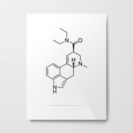 LSD black/white Metal Print