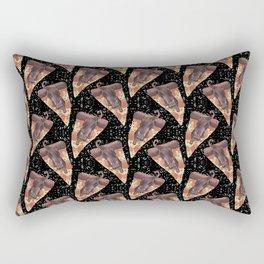 cat galaxy pizza stars Rectangular Pillow