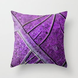 Very Distressed Gothic Grunge Shattered Glass Close Up Abstract Throw Pillow
