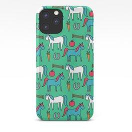 Horses- Aqua iPhone Case