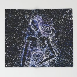 Nuit - The Starry Goddess Throw Blanket