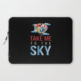 Take Me To The Sky Balloon Laptop Sleeve
