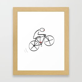 Stylized Bicyclist Framed Art Print