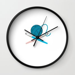 I Don't Need A License For My 9MM - Crocheting Crochet Gift Wall Clock