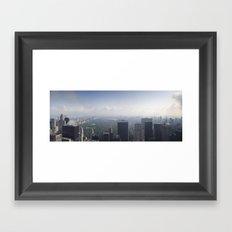 Central Park Panorama Framed Art Print