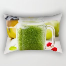 green smoothie Rectangular Pillow