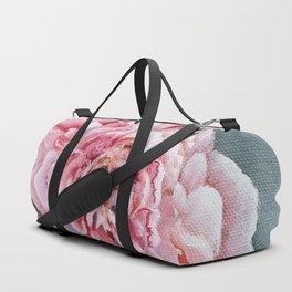 Peony Memories Flower Painting Duffle Bag