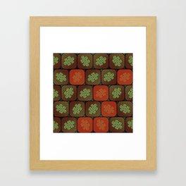 Information puzzle Framed Art Print