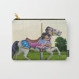 Wood horse Nature Carry-All Pouch