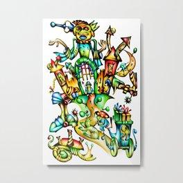 Fable fun illustration artwork design drawing Metal Print