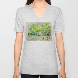 Krause Springs - historic Texas natural springs swimming hole Unisex V-Neck