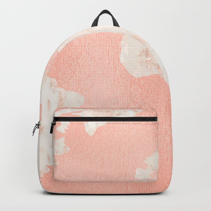Pink Rose Gold World Map Backpack